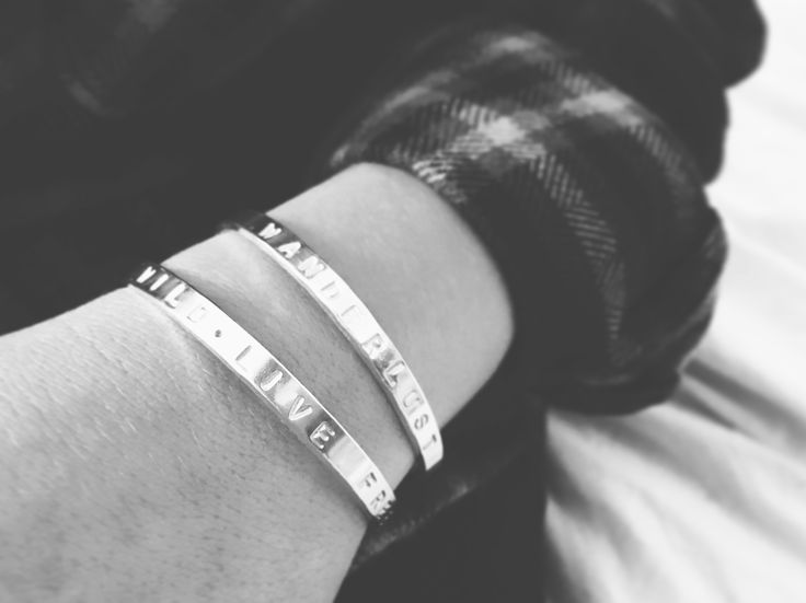 DAISYV Inspire bangles - personalise with your favourite word or quote! Handmade from solid sterling silver. #daisyv #jewellery #jewelry #handmade #bangle #quote #handmadejewelry #handmadejewellery #silverbangle #surfstyle #bohostyle