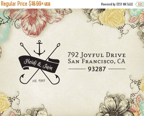 Christmas Holiday Sale Wedding Return Address Stamp by GulfRoadTwo