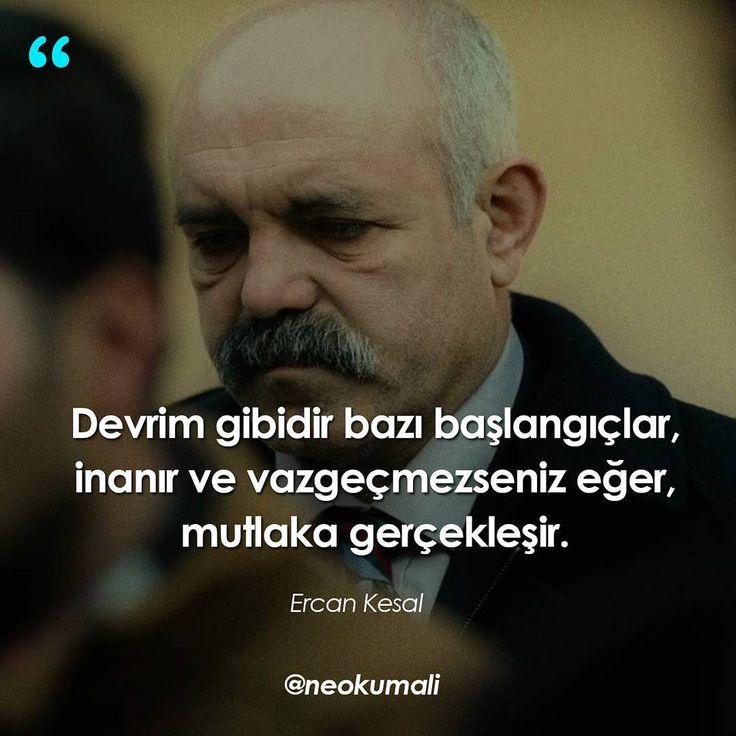 Devrim gibidir bazı başlangıçlar, inanır ve vazgeçmezseniz eğer, mutlak gerçekleşir. - Ercan Kesal / Cin Aynası (Kaynak: Instagram - neokumali) #sözler #anlamlısözler #güzelsözler #manalısözler #özlüsözler #alıntı #alıntılar #alıntıdır #alıntısözler #şiir #edebiyat #kitap #kitapsözleri #kitapalıntıları