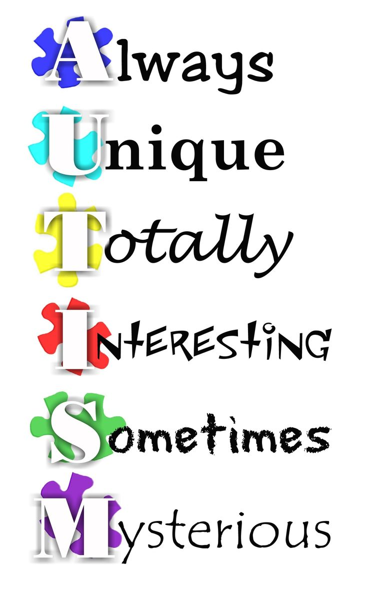 Found via an google images search on 'Autism'.... inspiring acronym! (www.google.co.uk)