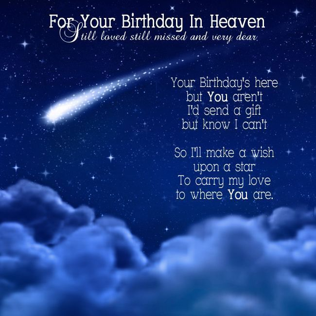 For Your Birthday In Heaven Heavens Birth