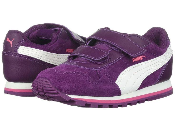 Puma Kids ST Runner SD (Toddler) Girls Shoes Dark Purple/Marshmallow