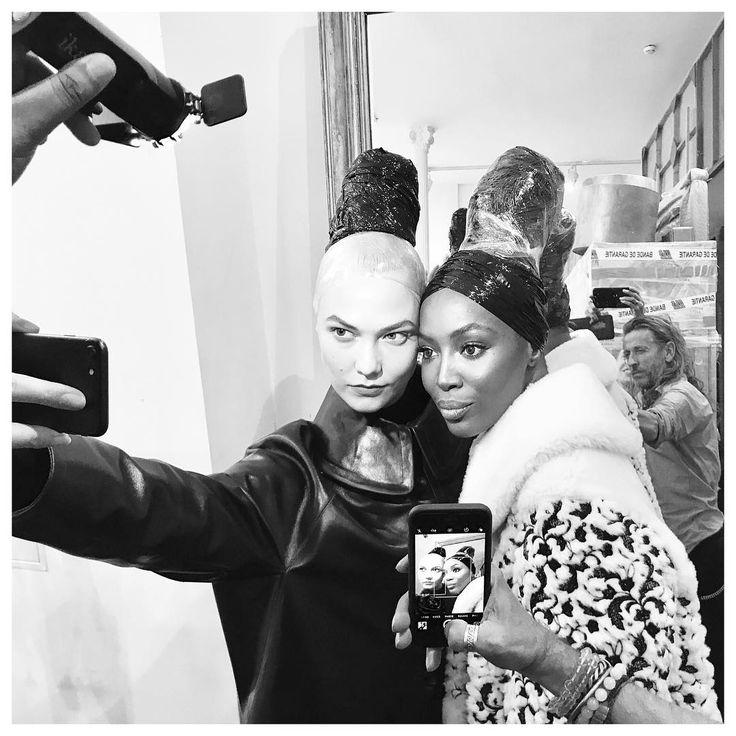 Триумфальное Возвращение Azzedine Alaïa и Наоми Кэмпбелл #НаомиКэмпбелл #Париж #КарлиКлосс #AzzedineAlaïa
