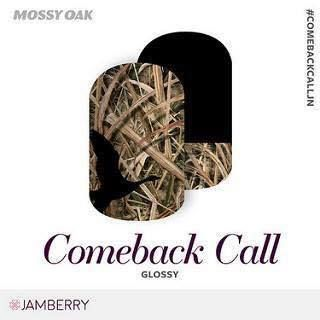 """Are you the outdoorsy type?  Do you love duck hunting? Jamberry has collaborated with Mossy Oak to bring you some great """"woodsy"""" looks for your nails! Comeback Call combines grass blades with a duck outline to create a pretty out-of-doors look for your manicures and pedicures.  These wraps are eligible for Buy 3 and Get 1 Free.  For more great ideas, follow me on Facebook at:  https://www.facebook.com/amysamazingjamaddicts/"""