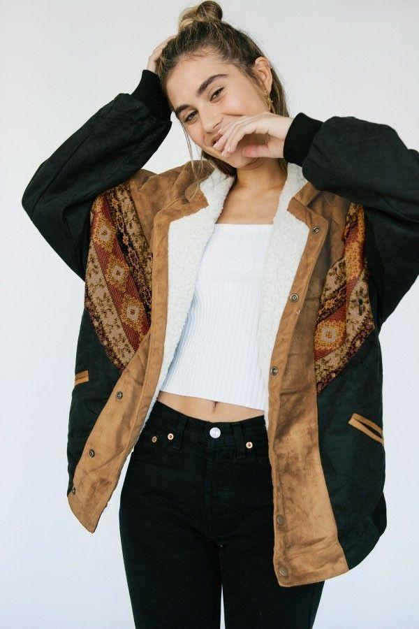 72d9e9a05 ALASKA BROWN NAVAJO BOMBER - ARIZONA BABE | fashion 80s di 2019 ...