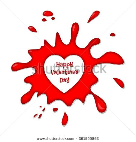 Happy Valentine's Day Vector Hearts Isolated