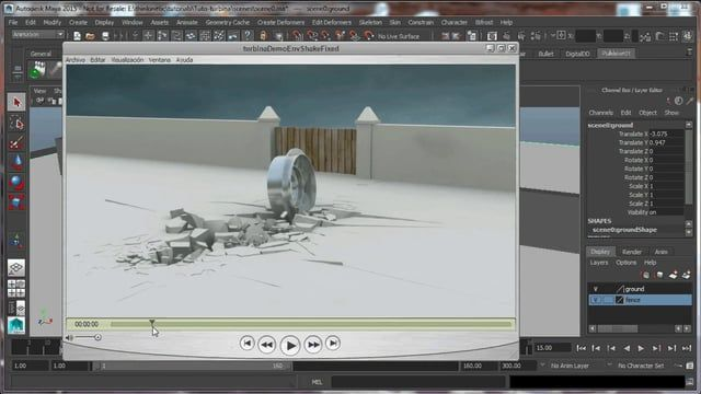 tutorial about cracking ground and breaking obstacles with an animated object using Pulldownit in Maya Same tutorial for 3d MAX here, http://thinkinetic.wordpress.com/2014/11/20/tutorial-destroying-the-scenery-with-pulldownit-3/