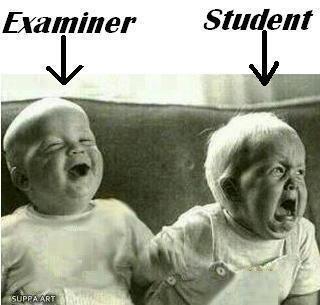 Pre exam stress?