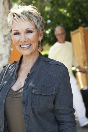 I wanna look this good someday with short grey hair!