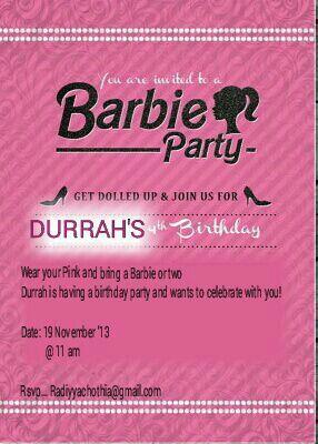 Invite barbie