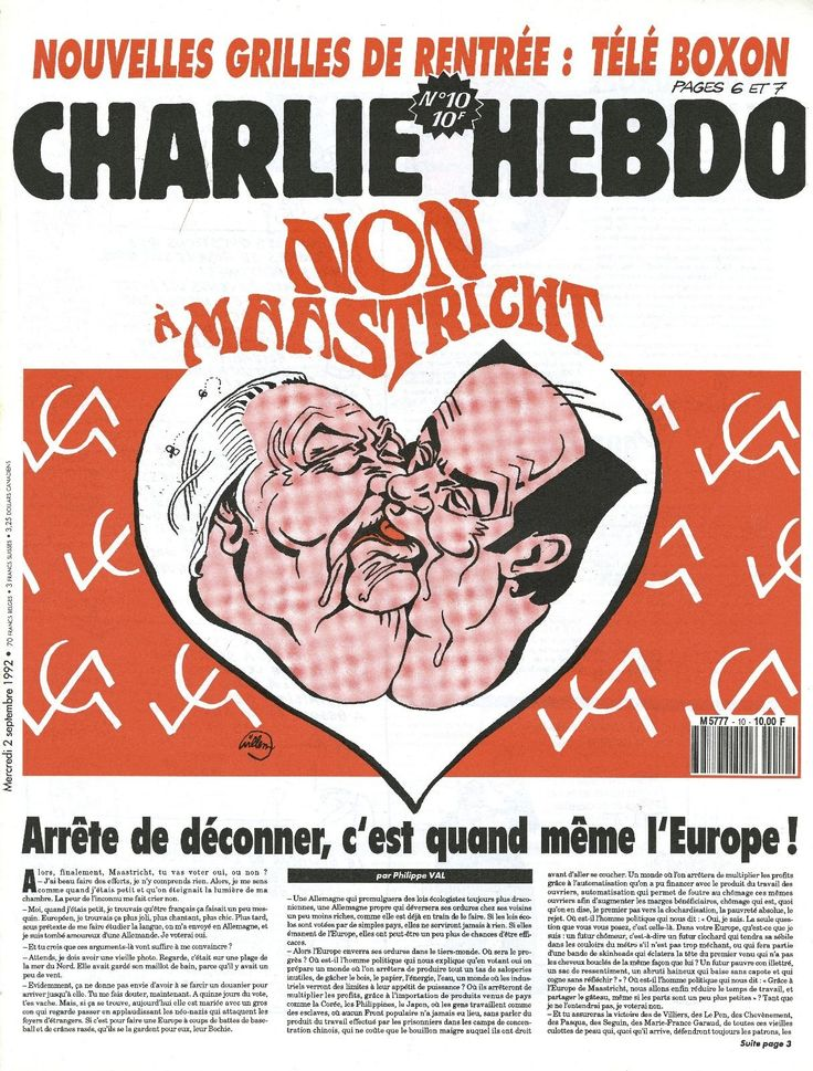 Charlie Hebdo - # 10 - 2 Septembre 1992 - Couverture : Willem