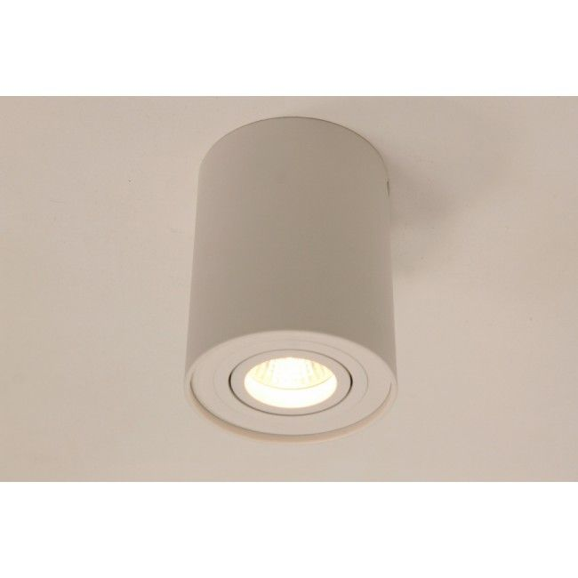 Plafondlamp / Opbouw spot 78116 Wit   Rond