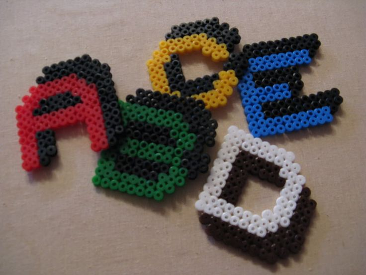 Letters hama beads by Missing Creativity