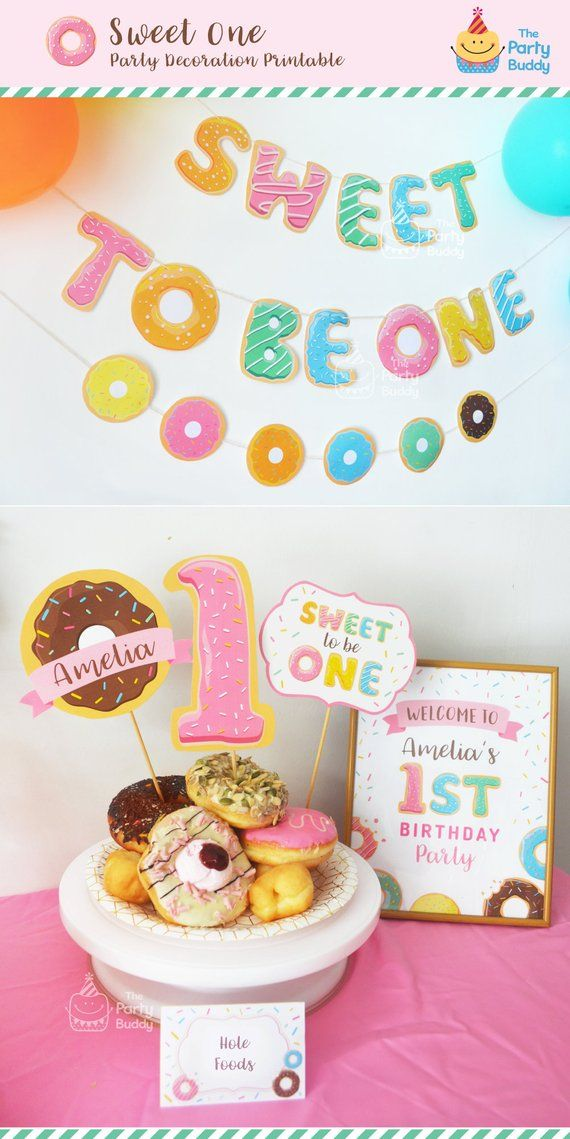 Sweet To Be ONE Girls 1st Birthday Party Pack
