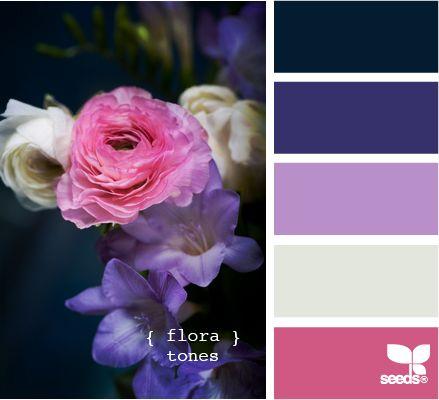 flora tones  color combination, color palettes, color scheme, color inspiration, visual communication.