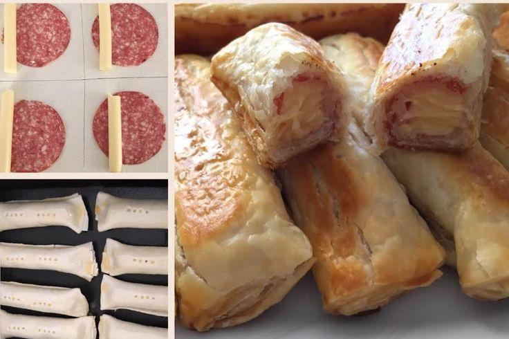 Cheese and Salami Sticks  