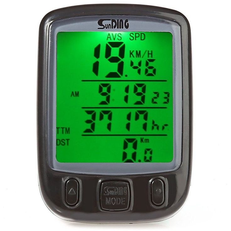 SunDing SD - 563A Multifunction Bicycle Computer Waterproof Cycling Odometer Bike Computer Speedometer with LCD Green Backlight
