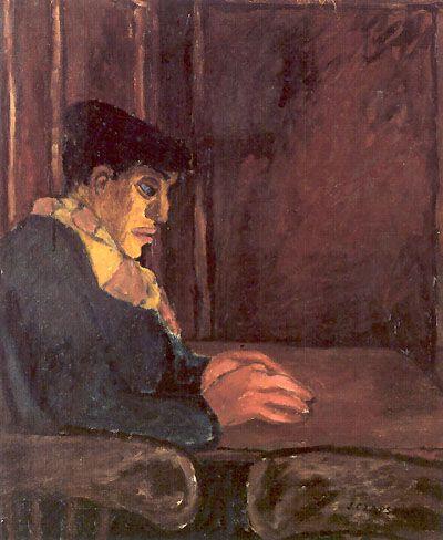 J. Czapski, Workman, 1952, olio su tela