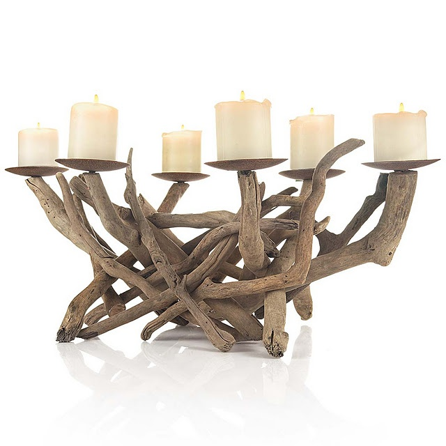 driftwood candleholder...