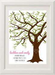 Wedding Oak Tree Print by Bespoke Moments. Worldwide Shipping Available.
