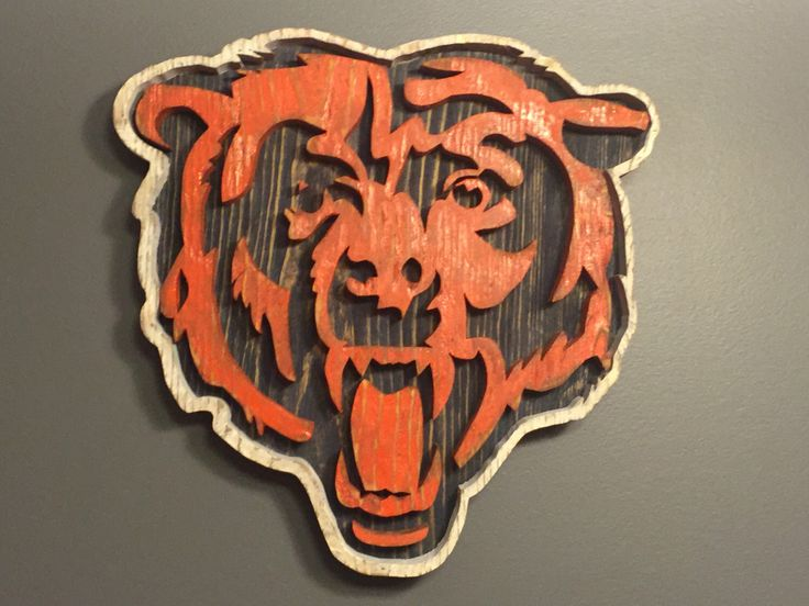 Chicago Bears Wall Art 37 best sports decor images on pinterest | sports decor, wood logo