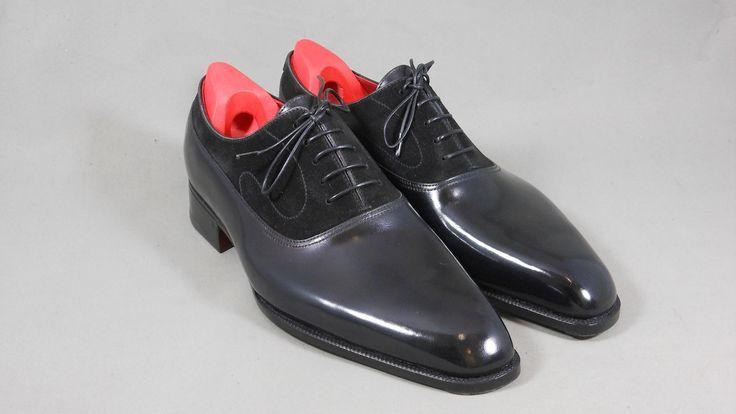 Handmade Men Black shoes, Men formal shoes, Men leather and suede dress shoes - Dress/Formal