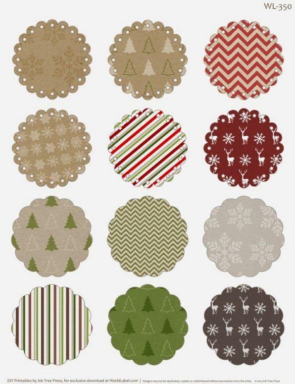 Navidad: Toppers o Etiquetas para Imprimir Gratis.