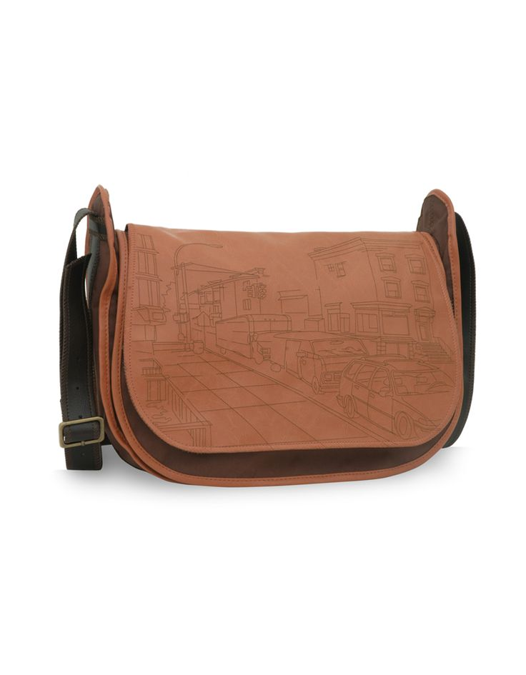 Nifty Calista Brown - An urban inspired laser cut bag by Baggit in brown. http://www.baggit.com/