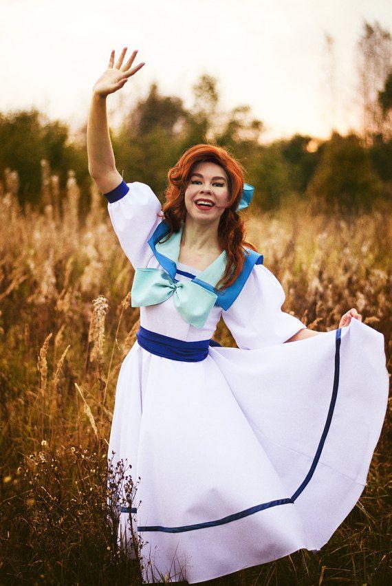 Anastasia Cosplay Dress Costume Princess Romanov  Grand Duchess Russia