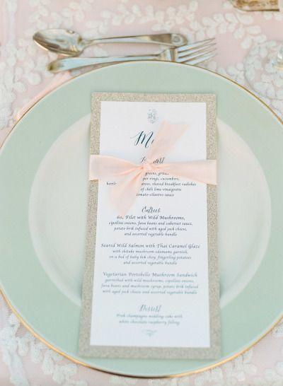Mint plates: http://www.stylemepretty.com/minnesota-weddings/minneapolis/2015/01/29/chic-lakeside-country-club-wedding/ | Photography: Jeff Loves Jessica - http://jefflovesjessica.com/