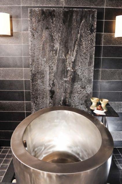 Soak For Days!: Modern Bath, Idea, Soaking Tubs, Contemporary Bathrooms, Bathtubs, Danenberg Design, Home Spa, Floors Spaces, Stainless Steel