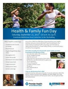 The Atrium Medical Center has combined with medical programs throughout the region for this weekends Health and Family Fun Day September 21st. Get more info