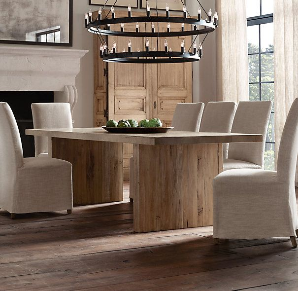 from restoration hardware reclaimed russian oak plank rectangular dining tables i want this in. Interior Design Ideas. Home Design Ideas