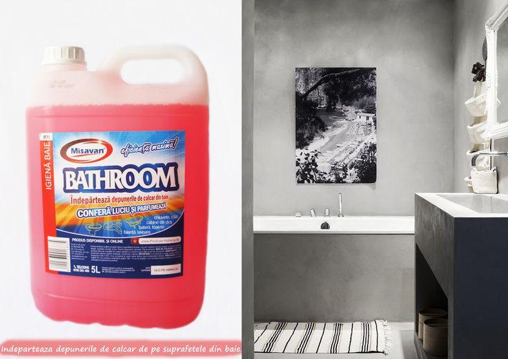 Misavan Bathroom este o solutie ce previne depunerile de calcar, curata,  confera luciu si parfum: http://www.produse-horeca.ro/baie/misavan-baie-5l-best Produsul este disponibil la 550ml si la 5L. #misavan #curatenie #baie #bathroom