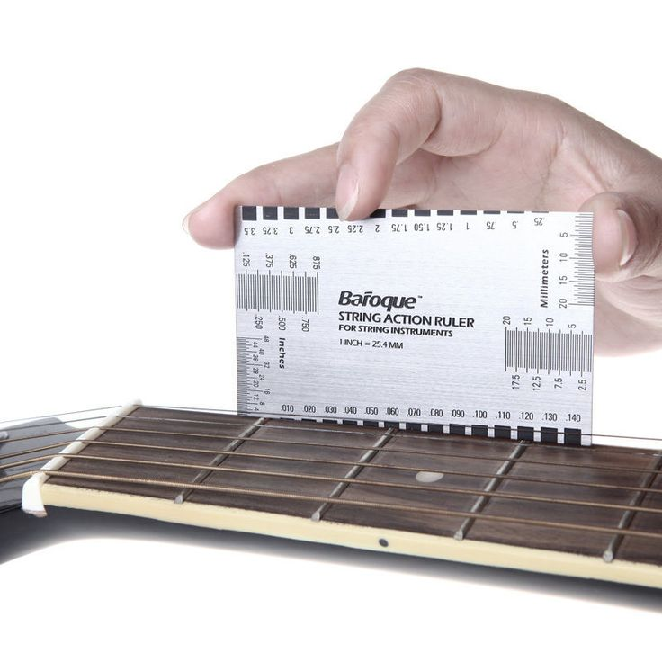 STEEL PRECISION GUITAR RULER - STRING ACTION GAUGE LUTHIER MEASURING FORK TOOL in Musical Instruments, Guitars & Basses, Accessories   eBay