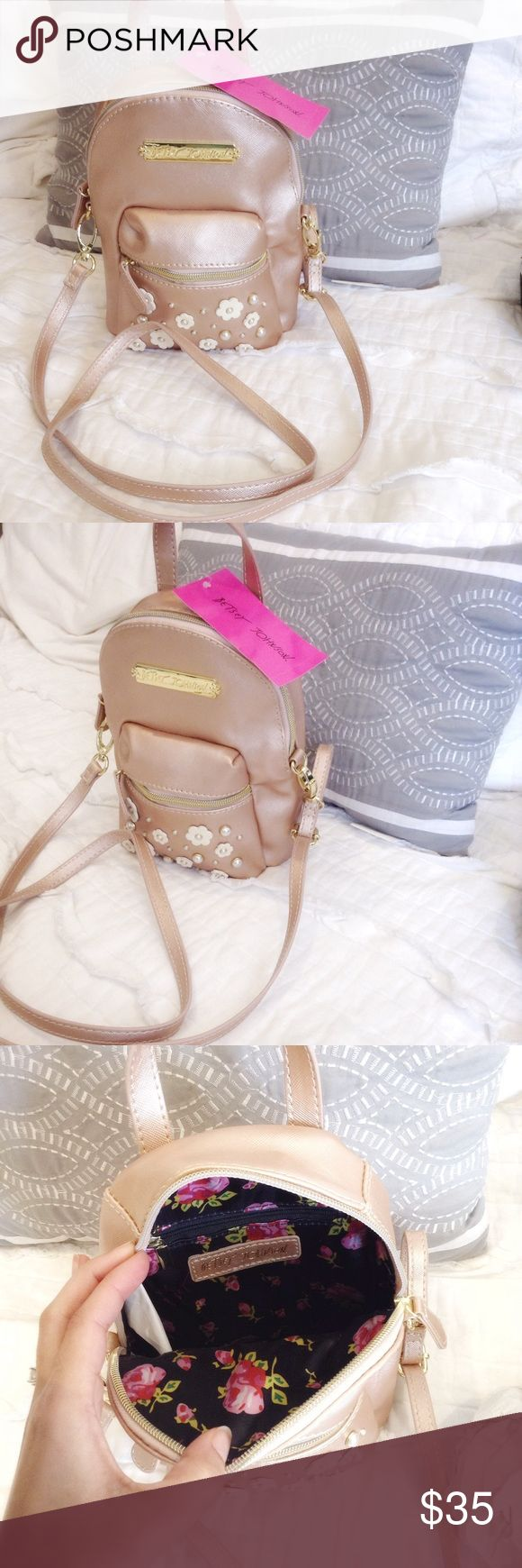 Betsey Johnson mini backpack purse Brand new. Blush nude Betsey Johnson Bags Mini Bags