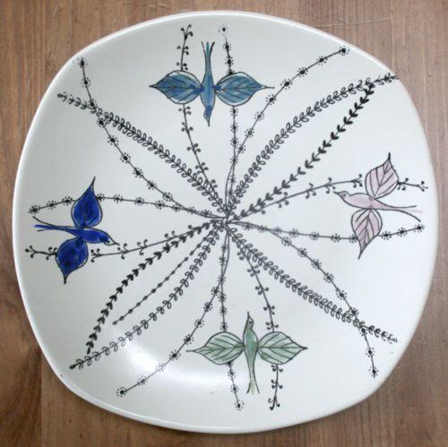 Vintage Stavangerflint handpainted plate designed by Inger Waage 35-202 Norway