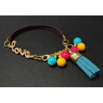 Pulsera de Moda con Perlas - Love - 7 Colores