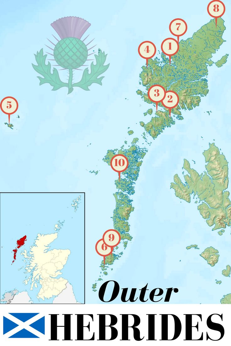 List and Map of most amazing things to do on Outer Hebrides including Isle of Lewis, Isle of Harris, Cycling Benbecula, Luskentyre Beach, and many other amazing locations!