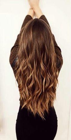 Bayalage caramel brown hair color