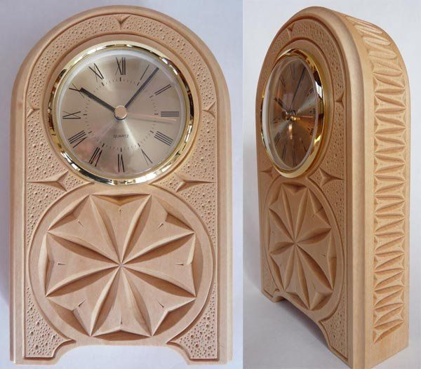 Desk clock chip carved by mychipcarving https