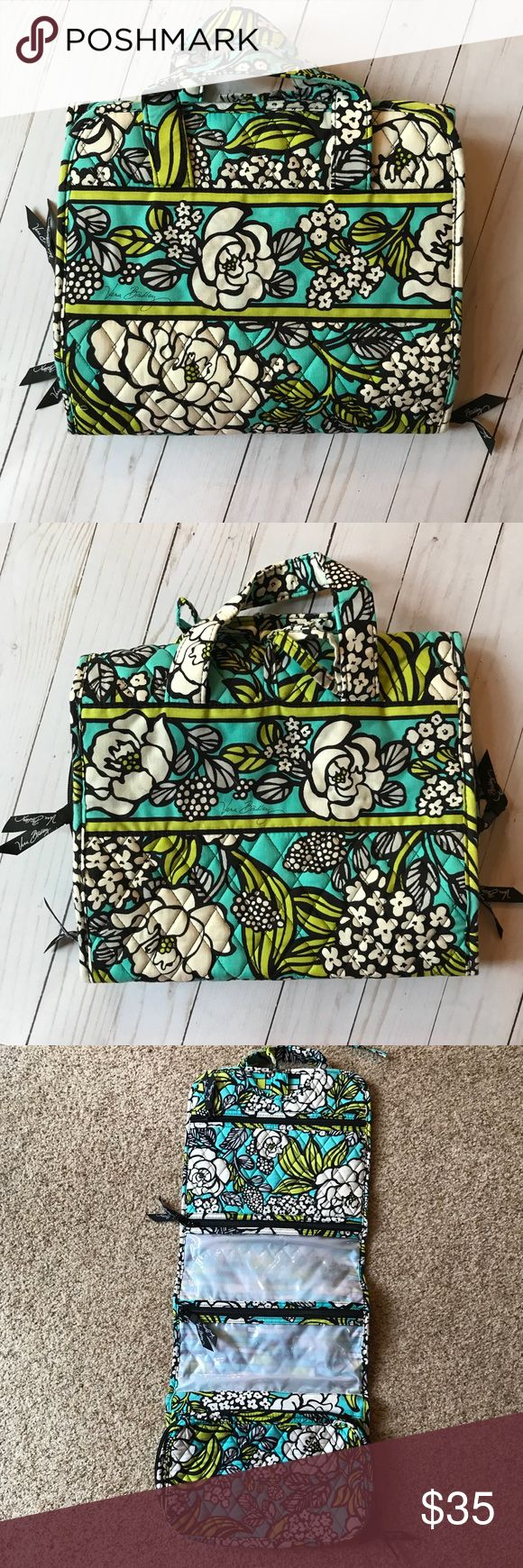 Vera Bradley Hanging Makeup Organizer Barely used. I got it as a graduation gift but I never wear makeup so I didn't have much of a use for it. No stains tears or signs of wear. Perfect for organization! Vera Bradley Bags Cosmetic Bags & Cases