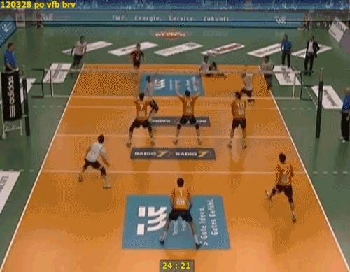 Three Men Hit In The Face By Single, Epic Volleball Spike