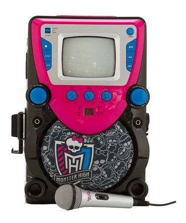 Another great find on #zulily! Monster High™ Karaoke Machine with Screen by Monster High #zulilyfinds