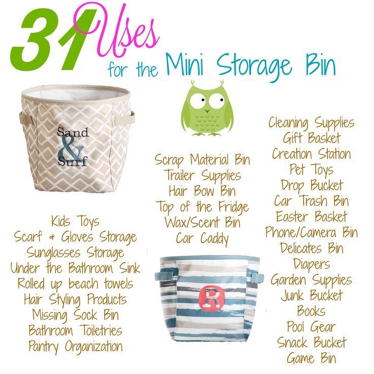 New for Spring/Summer 2017.  Thirty-One's uses for our Mini Storage Bin :)
