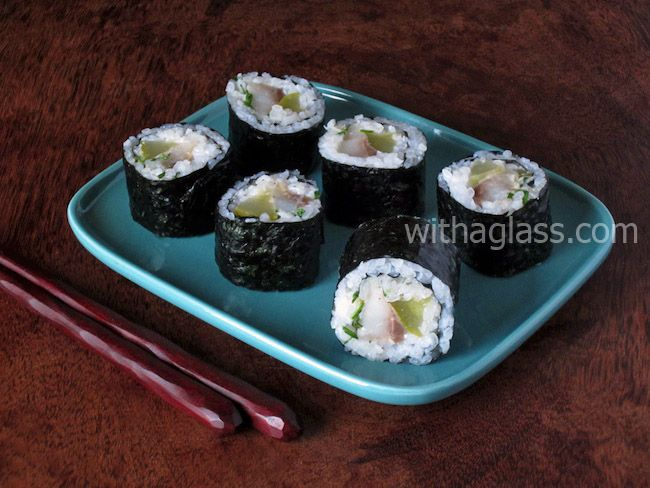 "Maki Sushi with Pickled ""Matjes"" Herring 