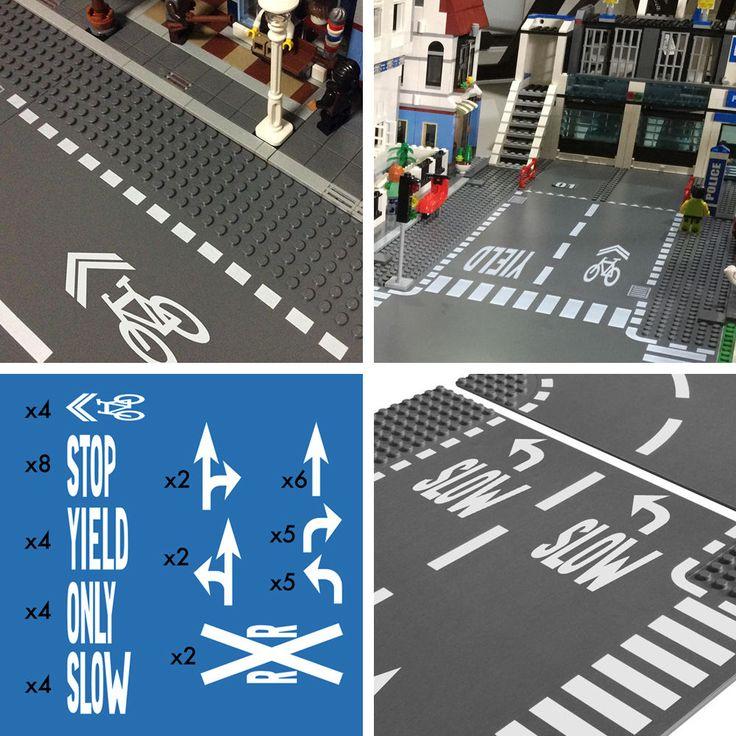 Lego дороги уличные пластины база город город трафик маркировка знаки наклейки наклейки | Игрушки и хобби, Конструкторы, Конструкторы LEGO | eBay!