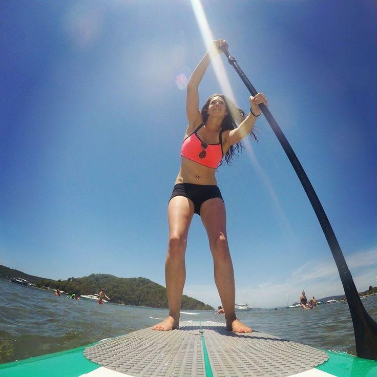 Paddle boarding on a Drift Americano Aqua 10'6