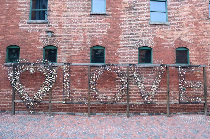 Visit the Love Locks at Toronto's Distillery District during a stay with your sweetheart.