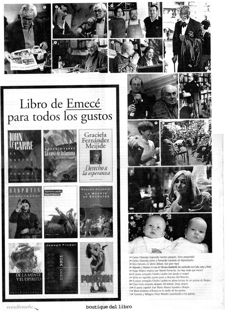 Contratapa de la Edición 6 del Periódico Publicado por la Boutique del Libro San Isidro, 30 años